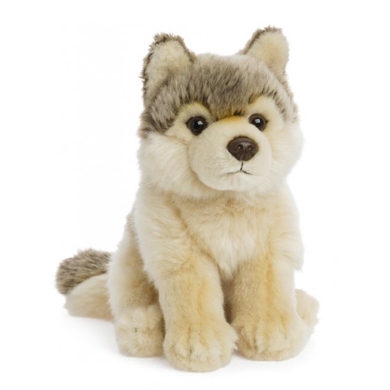 f3eea4f30f47e7 WNF pluche wolf knuffel 15 cm voor maar € 12.95 bij Viavoordeel